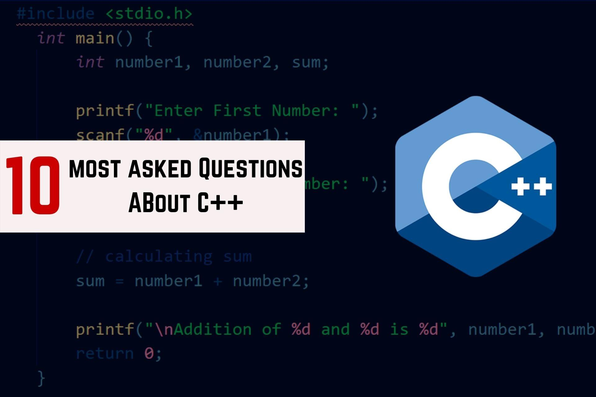 questions about c++