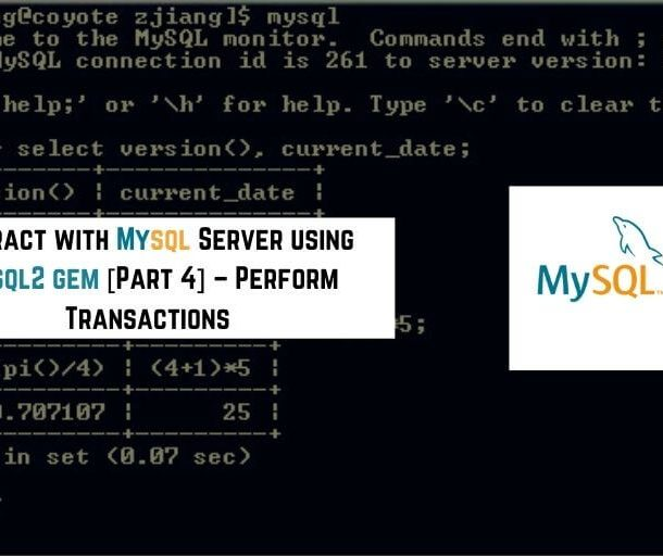 mysql2 gem perform transactions