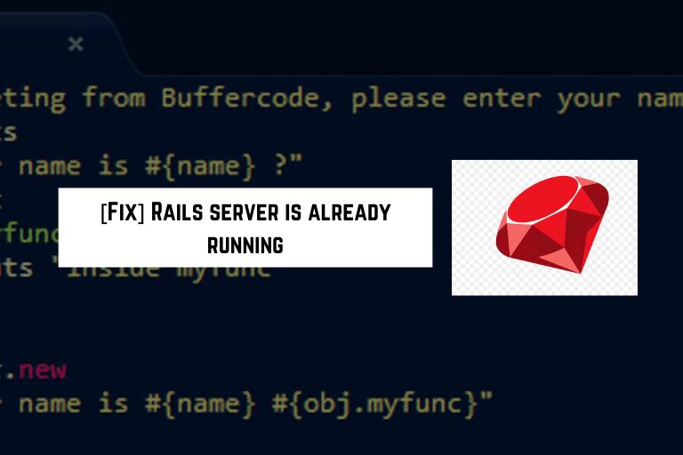 rails server is already running